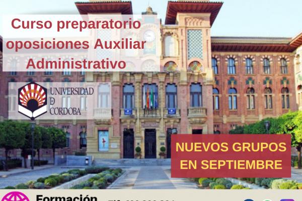 Oposiciones con 46 plazas de Auxiliar Administrativo para la Universidad de Córdoba